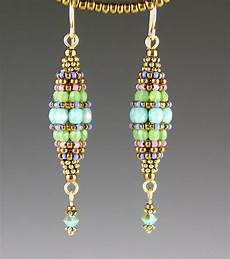 beadwork earrings turquoise beaded bead earrings