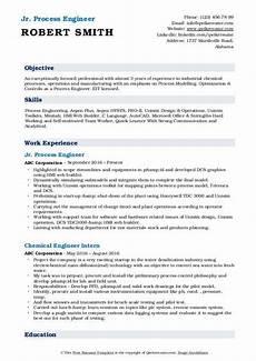 Process Engineering Resumes Process Engineer Resume Samples Qwikresume