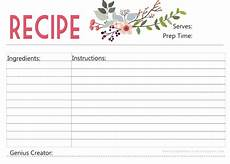 Recipe Cards Printable Enjoy A Free Printable Recipe Card Designed With Love By