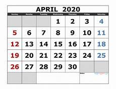 print calendar april 2020 april 2020 printable calendar template excel pdf image