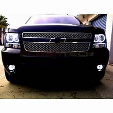 Led Lights For Avalanche Chevrolet Avalanche White Led Halo Fog Light Kit 2007 2013