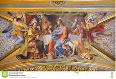 rome italy march 9 2016 the detail of vault fresco
