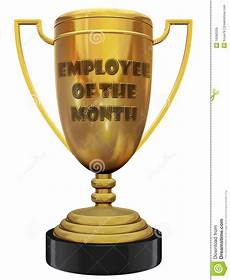 Employee Of The Month Award Employee Of The Month Trophy Stock Illustration