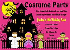 Costume Party Invitations Free Printable Halloween Costume Party Invitations In Pink Printable Or
