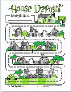 Savings Goal Chart House Deposit Savings Game Chart Debt Free Charts