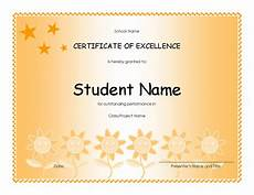 Academic Award Certificate Student Excellence Award Elementary Free Certificate