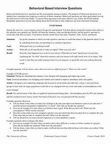 What Is A Behavioral Based Interview Examples Of Behavioral Based Interview Questions