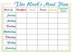 Meal Prep Calendar Meal Planner Digital Weekly Printable Meal Schedule Pdf Etsy