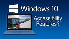 Window 10 Features Windows 10 Accessibility Features The Blind Life Youtube
