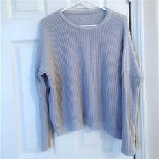 Melville Light Blue Sweater Melville Melville Baby Blue Bronx Crew
