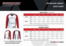 Skydiving Helmet Size Chart Skydiving Jersey Size Chart Manufactory Apparel