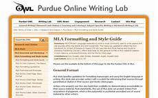 Purdue Owl Mla Purdue Owl The Most Comprehensive Mla Formatting