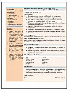 Resume Format For Experienced Accountant Pdf Resume Sample For Experienced Chartered Accountant 2