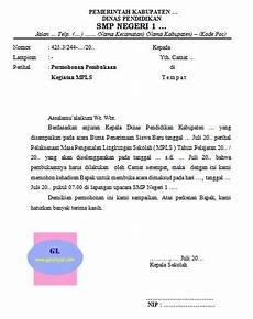 surat permohonan kepada camat untuk membuka kegiatan mpls