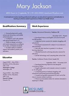 Writing A Teaching Resume Powerful Teacher Resume Examples 2019 Free 2019 Samples