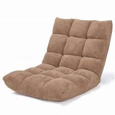Folding Lazy Sofa Floor Chair 3d Image by Costway Adjustable 14 Position Floor Chair Folding Lazy