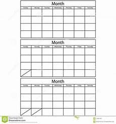 Calendar Template 3 Months Per Page Calendar Template 2019