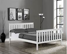wooden bed frame white single king size with