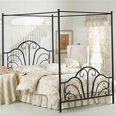 classic size canopy metal bed frame sturdy beautiful