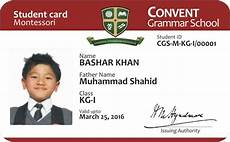 student i card template id cards for convent grammer school on behance