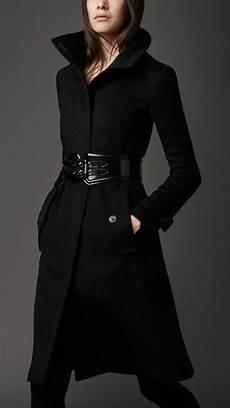 black coats for burberry blend coat in black lyst