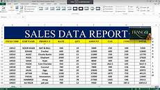 Sales Reports Excel How To Make Sales Report In Excel 26 Youtube