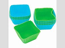 Wilton Silicone Standard Baking Cup Liner, Square 12 ct