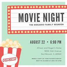 Movie Themed Invitation Template Free Customize 646 Movie Night Invitation Templates Online Canva