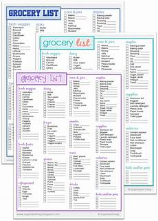Grocery List Book Organized Meg Grocery List Printables