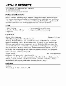 Escrow Officer Resume First American Title Escrow Officer Resume Sample