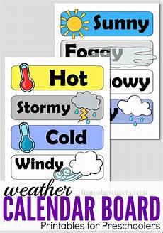 Weather Chart For Preschool Classroom Printable Preschool Calendar Board Weather Printables Pocket