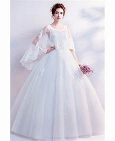 big sleeve dresses for dreamy lace cape sleeves big gown wedding dress