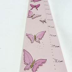 Pink Height Chart Personalised Pink Butterflies Height Chart By Hickory