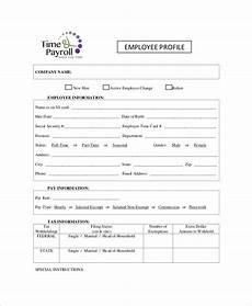 Profile Template Free 8 Sample Employee Profile Templates In Ms Word Pdf