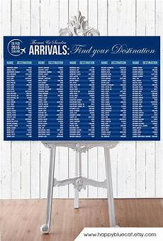 Travel Seating Chart Wedding Seating Chart Rush Service Arrivals Airport
