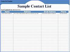Name And Address Template Word 12 Excel Address List Template Excel Templates Excel