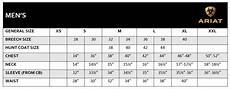 Ariat Pants Size Chart Ariat Sizing Information