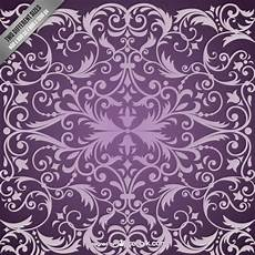 Free Damask Background Purple Damask Pattern Background Vector Free Download