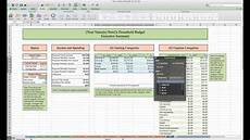 Excel Household Budget Household Budget And Finances Template And Tutorial Excel