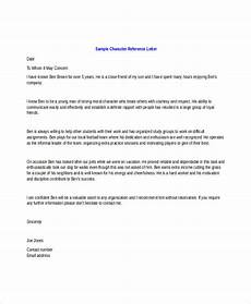 Character Letter Example Character Letter Templates 7 Free Sample Example