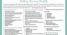 Checklist For Wedding Planning Printable Wedding Planning Checklist For Diy Brides