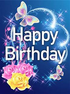 Cards Of Happy Birthday Shining Rose Amp Butterfly Happy Birthday Card Birthday