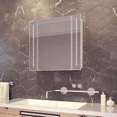Bathroom Mirror Cabinet With Battery Lights Battery Operated Bathroom Cabinets With Led Lighting