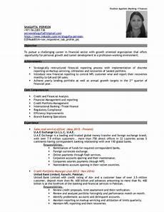 Resume Format For Banking Jobs Resume Banking