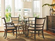 glass dining room sets latitude 54 quot glass top dining room set 113657