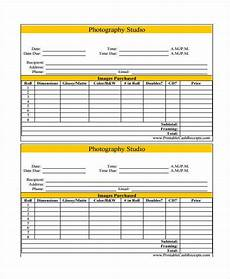 Photography Receipt Template Free 5 Photography Receipt Templates Free Sample Example