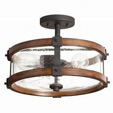 Lowes Overhead Lights Kichler Lighting 3 Light Barrington Distressed Black And