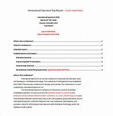 Business Trip Report Template Word 18 Business Trip Report Templates Word Pdf Free
