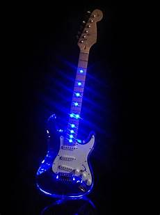 Neon Light Guitar L Ms Clear Acrylic See Thru Body Vintage Style Electric