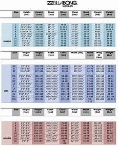 Billabong Size Chart Uk Billabong Synergy Womens 4 3mm Wetsuit Free Shipping
